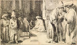 Zsidók a zsinagógában, Rembrandt Harmensz van Rijn, 1648, forrás: Wikipedia