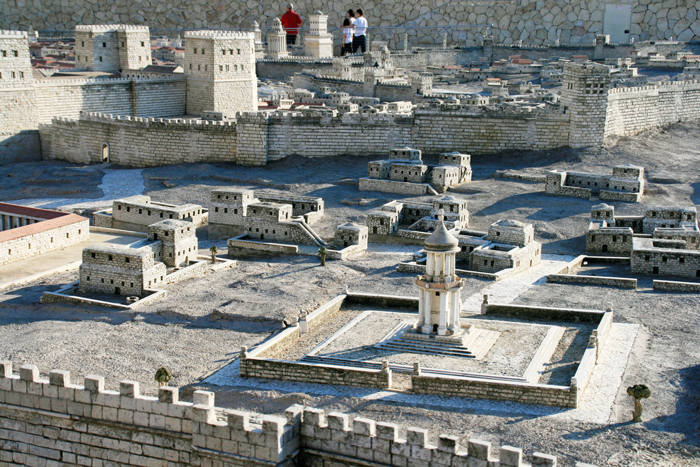A jeruzsálemi második szentély modellje