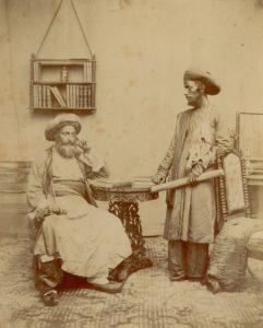 Bene israeli tanárok a Skót missziós iskola és Zsidó angol iskola szabad templomában, Mumbai, 1856