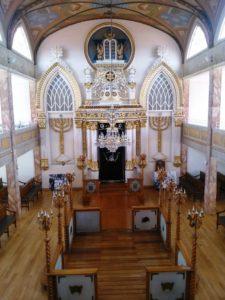 A Szefárd zsinagóga belseje Mexikóváros központjában
