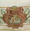 A Segre család címere, oroszlán és Dávid csillag