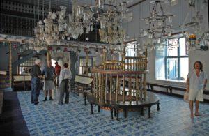 A Paradeshi zsinagóga belső tere, Kochi, Kerala